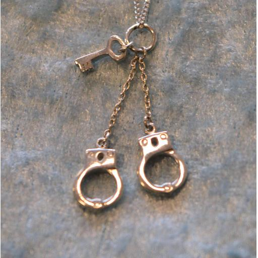 Lock and Key necklace. 925 Sterling Silver. 18 inch