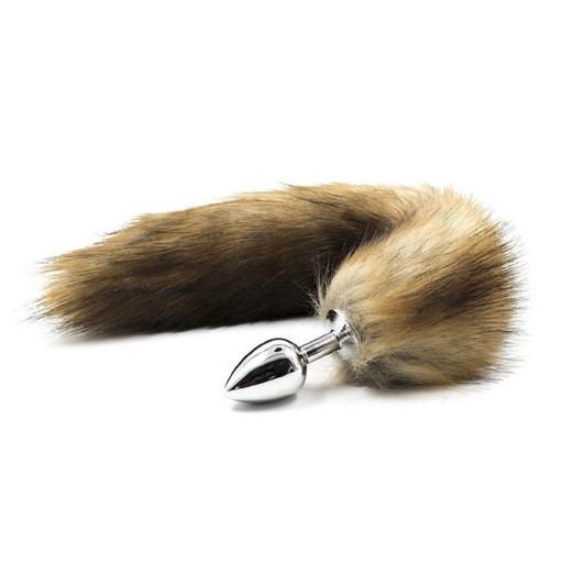 Foxtail Butt Plug in light Brown