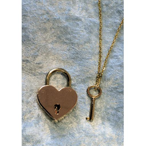 PERSONALISED Lockable Heart shaped Padlock. Gold tone.