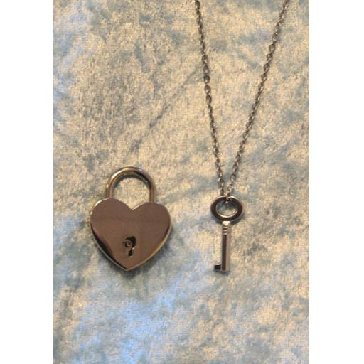 PERSONALISED Lockable Heart shaped Padlock. BDSM.