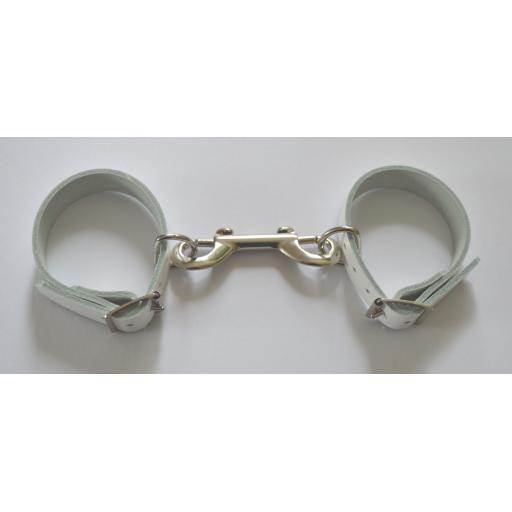 White Leather Ankle Cuffs PERSONALISED