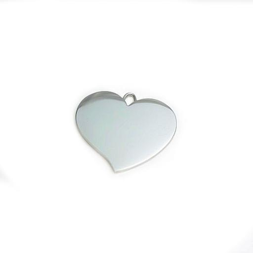 Photo Engraved FLARED HEART pendant Necklace
