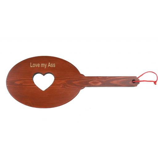 """Love my Ass"" Spanking Paddle. PERSONALISED"