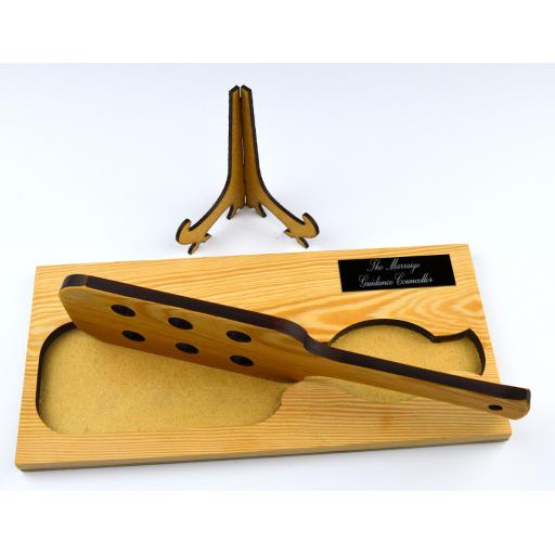 spanking paddle personalised plaque on stand 5.jpg
