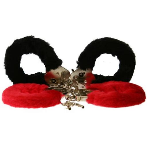 Furry FUN handcuffs - RED