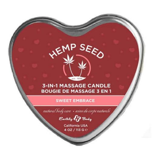 3 in 1 Massage Candle from Earthly Body - Sweet Embrace
