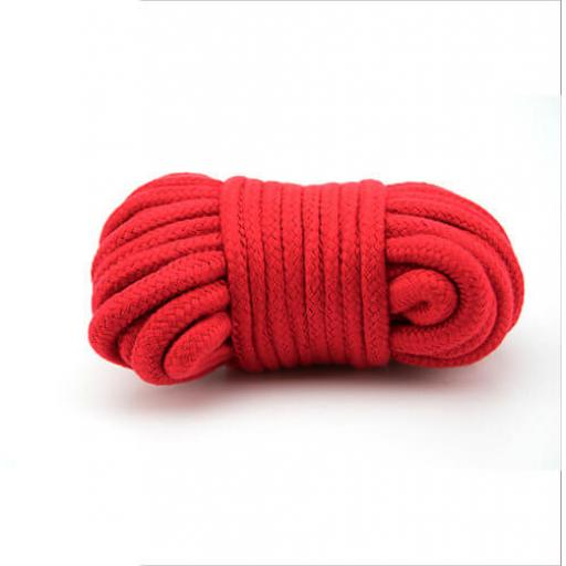 Red Bondage Rope. 100% cotton.
